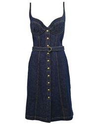 Philosophy Cotton Dress - Blue