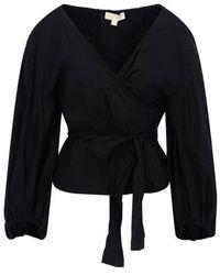 Michael Kors Women's Mu04m1ze5y001 Black Cotton T-shirt