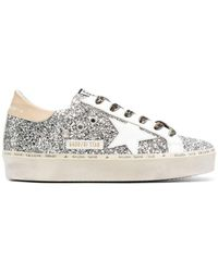 Golden Goose Deluxe Brand Women's Gwf00118f00073480575 Silver Leather Sneakers - Metallic