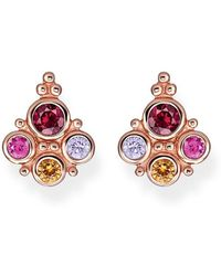 Thomas Sabo Royalty Colourful Stones Earrings - Pink