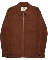 Portuguese Flannel Fecho Corduroy Jacket - Brown