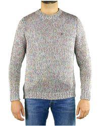 Roberto Collina Multicolour Crew Neck Sweater - Grey