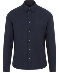 J.Lindeberg J.lindeberg Stretch Oxford Slim Shirt - Blue