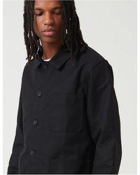 Le Laboureur Work Jacket (linen) - Black
