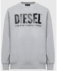 DIESEL Division Logo Sweatshirt - Grey