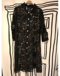 Out Of Xile Vintage Sheer Flare Coat In - Black