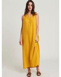 Hartford Roma Linen Dress In Sunflower - Yellow