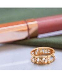 Rachel Jackson - Rave Behave Gold Ring - Lyst