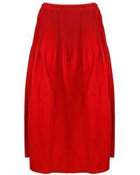 RED Valentino Women's Vr0rag041fpc61 Red Polyester Skirt