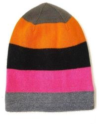 The West Village Coloured Cashmere Beanie Hat - Pink