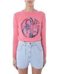 "Alberta Ferretti ""love Me"" Sweater - Pink"