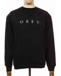 Obey Clothing Nouvelle Ii Crew Sweatshirt - Black