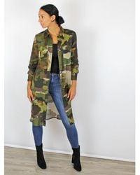 Ottod'Ame Camouflage Shirt Dress Multi - Green