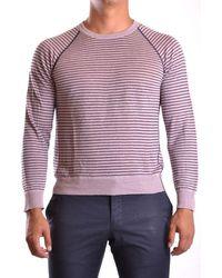 Armani Men's Mcbi024044o Purple Linen Sweater
