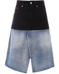 MM6 by Maison Martin Margiela Cotton Skirt - Black