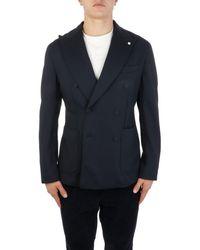 L.B.M. 1911 L.b.m. Men's 5144284501 Blue Polyamide Blazer