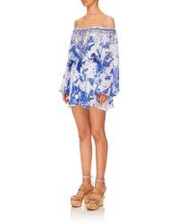 72967f5ddde Camilla - Women s 841plac029 Blouson Sleeve Playsuit In Blue - Lyst