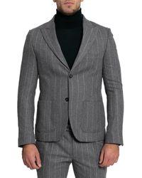 Daniele Alessandrini Single-breasted Blazer - Grey