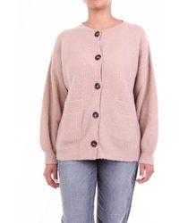 L'Autre Chose Knitwear Cardigan Sand - Pink