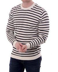 J.Lindeberg Jack Striped Breton Sweater - White