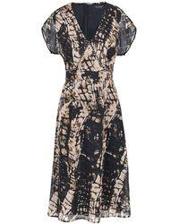 Religion Hide Print Dress - Black