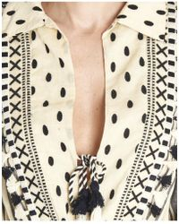 Dodo Bar Or - Vala Romper Short Tasselled Striped Jumpsuit In Black/ivory - Lyst