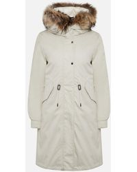 Woolrich Beige Hooded Military Parka - Natural