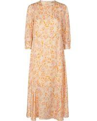 Mos Mosh Saku 3/4 Chintz Dress In Peach Parfait 136990 - Multicolour