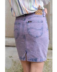 Lee Jeans - Mid Lilac Moonstone Skirt - Lyst