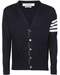 Thom Browne Men's Mkc002a00014415 Blue Wool Cardigan