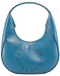 Stella McCartney Vegan Leather Small Hobo - Blue