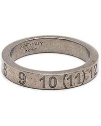 Maison Margiela Engraved Number Band Ring - Metallic