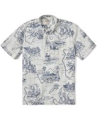 Reyn Spooner Our Paradise Classic Pullover Shirt - White