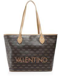 Valentino By Mario Valentino Liuto Logo Shopper Bag Colour: Brown