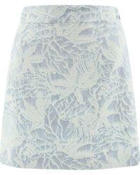 MSGM - Women's 3041mdd2621710682 Light Blue Other Materials Skirt - Lyst