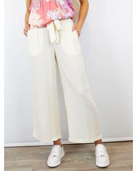 Conditions Apply Wide Leg Trouser Culottes Cream - Pink