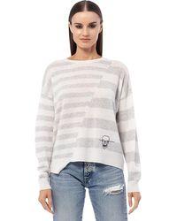 360cashmere Azaleya Striped Knit - Grey