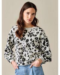 Bellerose Fafi Sweatshirt - Leopard - Gray