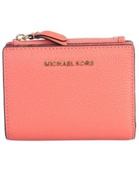 MICHAEL Michael Kors Billfold Leather Wallet With Logo - Pink
