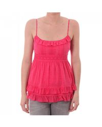 Juicy Couture Womens Ruffle Neckline Top - Pink
