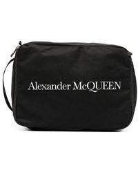 Alexander McQueen Men's 6497771aabd1070 Black Polyamide Beauty Case