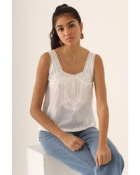 Nice Things - Laces And Pleats White Top - Lyst