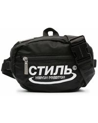 Heron Preston Men's Hmno001r21fab0011001 Black Polyamide Belt Bag
