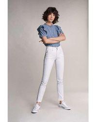 Salsa Push In Secret Slim Fit Jean - White