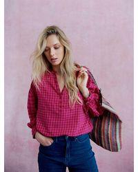 Nrby Heidi Brushed Cotton Check Shirt - Pink