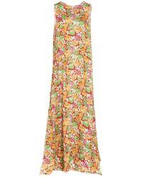 Plan C Plan-c Women's Abcab06ln0tv009fir02 Multicolour Dress