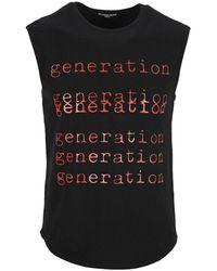 Raf Simons Generation Sleeveless Tee - Black