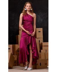 Solace London Hedda Dress Plum - Pink