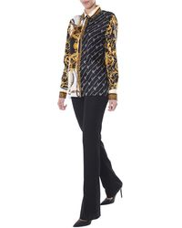 Versace Women's Flared Trousers - Black