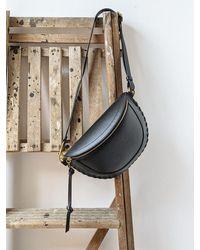 Étoile Isabel Marant Skano Whip Stitch Black Leather Bag